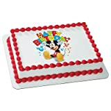 DISNEY MINNIE MICKEY MOUSE & FRIENDS BIRTHDAY CLUBHOUSE BALLOONS Edible Image FROSTING SHEET Cake Topper