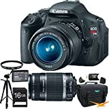 Canon EOS Digital Rebel T3i 18MP SLR Camera 18-55mm & 75-300mm Super Bundle!