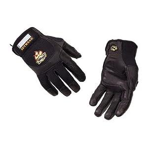 Setwear Pro Leather Gloves, Black Medium