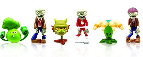 "Plants vs Zombies 2"" Peashooter, Mummy Zombie, Walnut, Sunflower, Space Zombie and Pirate Zombie (6-Pack)"