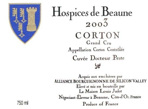 2003 Hospices De Beaune Corton CuvéeDr. Peste Grand Cru 750 Ml