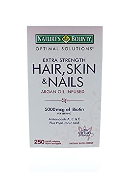 Natures Bounty Hair Skin And Nails Argan Oil Infused Amazon