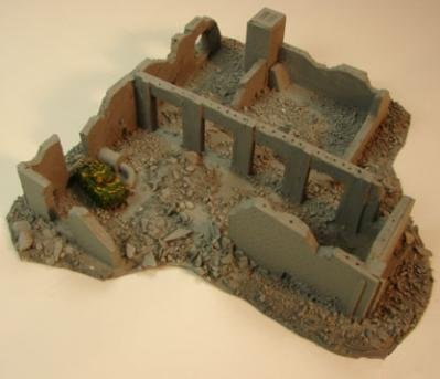 Terrain: 1/285th Scale (6mm) WWII - T-34 Factory Ruins
