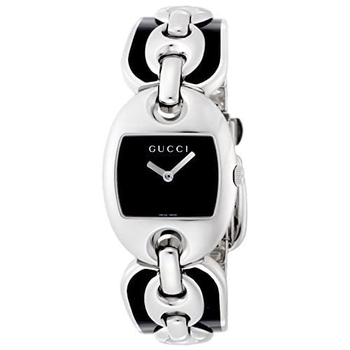 [グッチ]GUCCI 腕時計 マリナチェーン ブラック文字盤 YA121501LSS-BLK レディース 【並行輸入品】