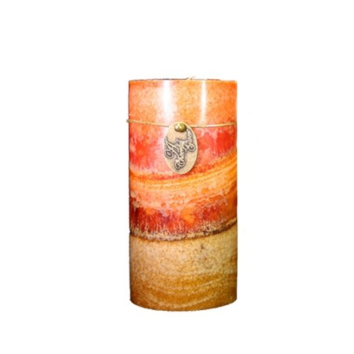A Cheerful Giver Traditional Spice Round Fuze Pillar Candle, 4 By 4-Inch
