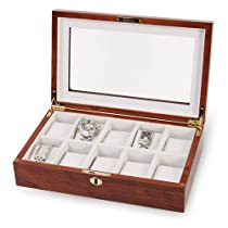 Rosewood w/Window Top 10-Watch Case