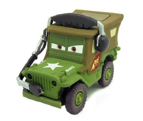 Pixar Cars Diecast Metal Toys Wearing Headphones Jeep
