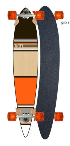 Orange Classic Pintail Longboard Complete By Stella SDS