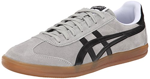 Onitsuka Tiger Tokuten Classic Soccer Shoe, Light Grey/Black, 12 M US