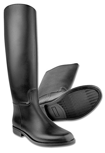 Adult-Waterproof-Star-Riding-Boots-Black-Size-38Spur-Rest-Riding-Boots-Plastic