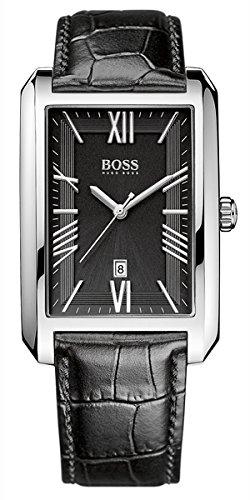 Boss 1513026 - Reloj de cuarzo para hombre, correa de cuero color negro