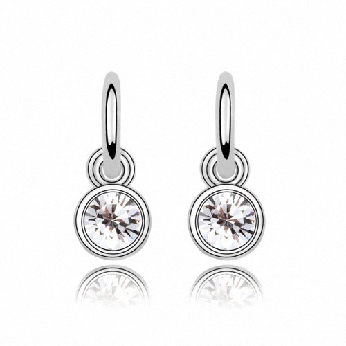 TAOTAOHAS- [ Search Name: Faith of Star ] (1PAIR) Crystallized Swarovski Elements Austria Crystal Earrings, Made of Alloy Plated with 18K True Platinum / White Gold and Czech Rhinestone