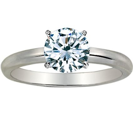 1 1/4 Carat Round Cut Diamond Solitaire Engagement Ring Platinum 4 Prong (K, VS1-VS2, 1.2 c.t.w) Ide..