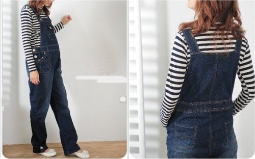 BRAND NEW Denim Maternity Dungarees - size 20