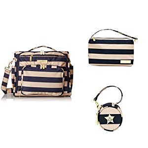 Ju-Ju-Be Nautical Legacy Collection B.F.F. Convertible Diaper Bag, Wristlet and Paci Pod, The First Mate