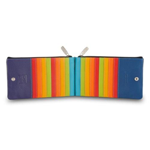 Portafoglio donna a busta in pelle multicolore porta carte DUDU Nero
