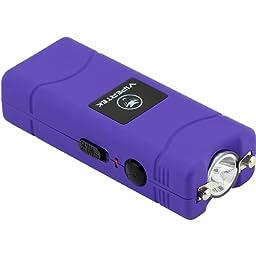 VIPERTEK VTS-881 - 28,000,000 V Micro Stun Gun - Rechargeable with LED Flashlight (Purple)