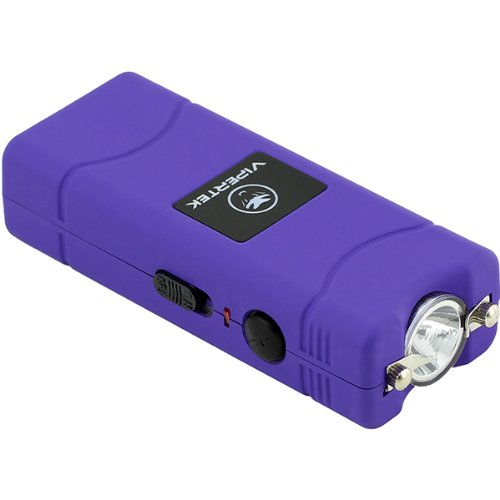 Vipertek Vts-881 - 17,000,000 V Micro Stun Gun - Rechargeable With Led Flashlight (Purple)