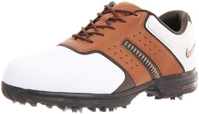 Nike Golf Men's Air Tour Saddle Golf Shoe,White/Bronze/Brown,8.5 M US