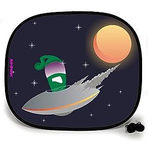 123t OUTTA THIS WORLD UFO BREAKDOWN PLAIN Baby/Child Vehicle Sunshade x 1