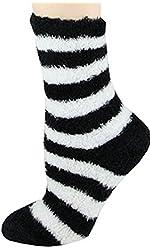 Soft & Warm Microfiber Fuzzy Socks- Multiple Colors- One Size