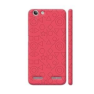 Colorpur Geometric Objects On Pink Artwork On Lenovo Vibe K5 / K5 Plus Cover (Designer Mobile Back Case)   Artist: Designer Chennai