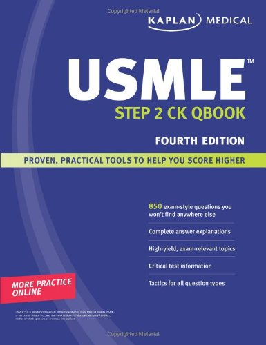 Kaplan Medical Usmle Step 2 Ck Qbook front-609624