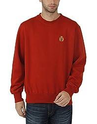 Fahrenheit Men's Fleece Sweat Shirt (8903942261770_Red_X-Large)