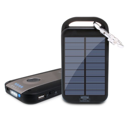 ReVIVE Solar ReStore XL 4000mAh Solar Charger Power Bank & USB Rechargeable External Battery Travel Pack w/ Universal USB Charging Port & High-Efficiency Solar Panel for iPhone 5 , Samsung Galaxy S4 , HTC One & More