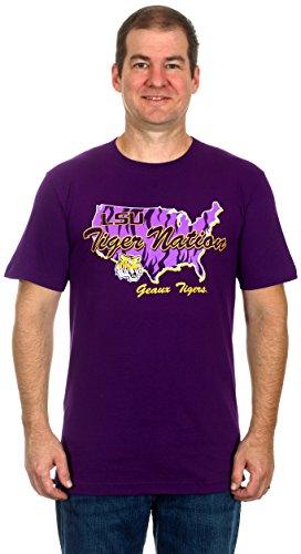 LSU Tiger Nation Men's Short Sleeve T-Shirt (Medium)