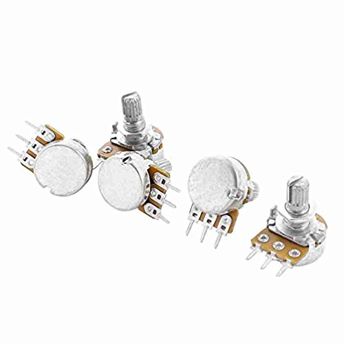 Einstellung oben Split Knurled Shaft Potentiometer Pot B50K 50K Ohm 5pcs