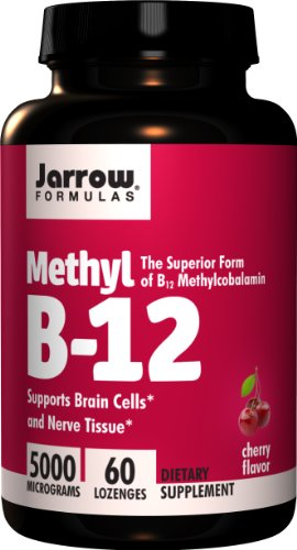 Jarrow Methyl B12, Methylcobalamin 5000 Mcg 60 Lozenges