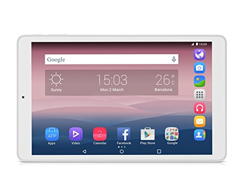 "Alcatel One Touch Pixi3 Tablet, Display IPS TFT da 10"", Risoluzione 1280x800, Processore Quad Core da 1.3 Ghz, RAM da 1 GB, HDD da 8 GB, Bianco"