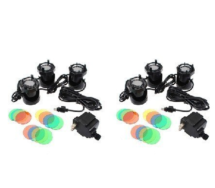 2pcs 3 Set 12LED Submersible Waterproof Underwater Fountain Flood Aquarium Pond Spot Light Multi-Color Lens