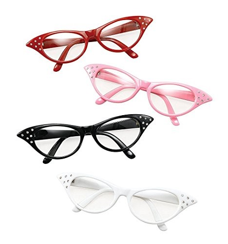 Glasses. 50'S Female Style Black