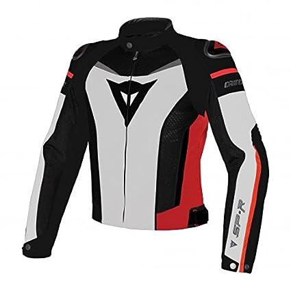 Blouson Dainese Super Speed Tex - 54 - White Black Red - Multicolore