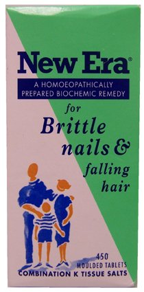 New Era Homeopathic Remedy for Brittle Nails & Falling Hair (450 Moulded Tablets)