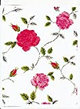 Manchester Rose Vinyl Tablecloth, 52x52 Square