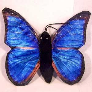 """Sunny Toys 8"""" Finger Butterfly Blue Morpho Finger Puppet - 1"""