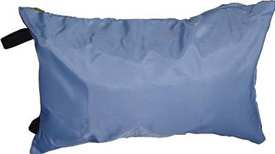 Cham Tex Vertriebs 4044602851246 Platzspar-Reisekissen / 38 x 26 cm / blau / Polyester-Alu