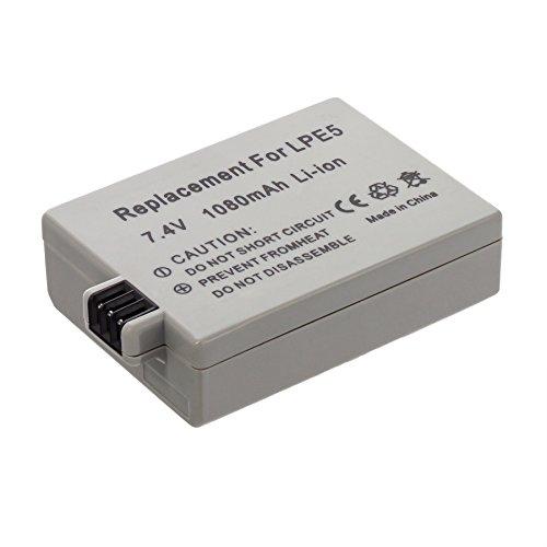 MTEC-Akku-1080mAh-fr-Canon-EOS-450D-450-D-EOS-500D-500-D-EOS-1000D-1000-D-Digital-Rebel-XSi-BG-E5-Batteriegriff-Ersetzt-Originalakku-Bezeichnung-LPE5-LP-E5