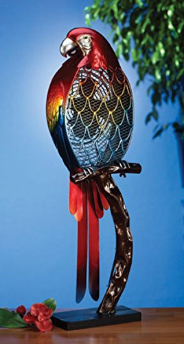 Deco Breeze Decorative Figurine Table Fan Parrot, Multi-Color, 32-Inch Tall by 9-Inch Wide (Tropical Table Fan compare prices)