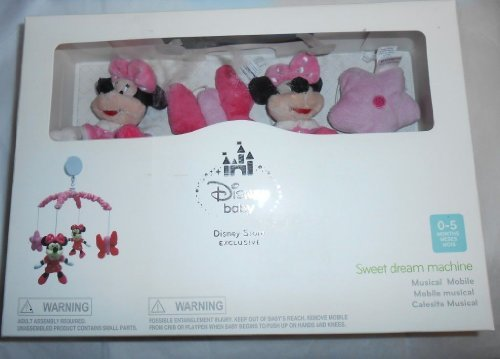 Disney Baby Minnie Mouse Sweet Dream Machine Mobile Musical NEW