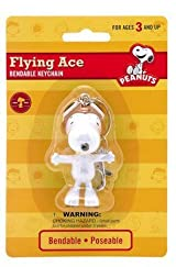 Peanuts Snoopy Flying Ace Bendable Keychain zipper pull