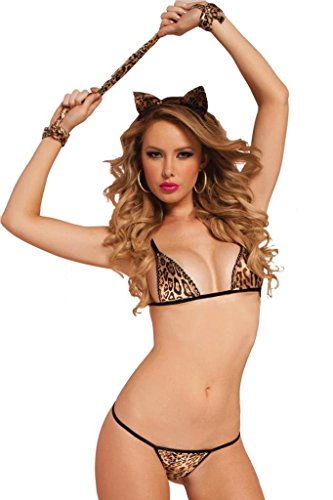 Sexy Leopard Role Play Bra Panty Lingerie Set