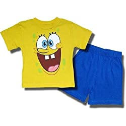 "SpongeBob SquarePants ""Say Aaah"" 2 piece short set for toddlers/youth"