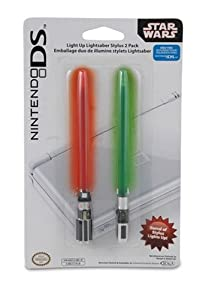 Nintendo DS Star Wars Light Up Lightsaber Stylus 2 Pack