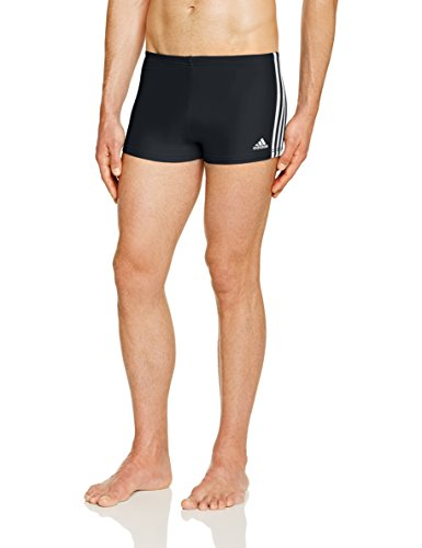 Adidas Infinitex-Boxer da uomo, Uomo, Infinitex 3-Stripes, nero/bianco, Taglia 5