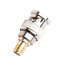 Generic BNC Male to SMA Female Plug Coax Adapter