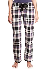Pure Cotton Checked Pyjama Bottoms [T37-9105-S]